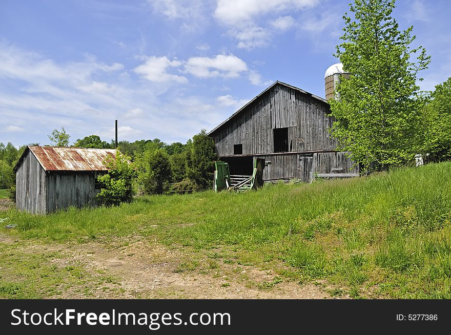 Old Shed And Barn