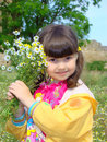 Free Little Girl With A Bouquet. Stock Photography - 5281972