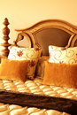 Free Colorful Cushions On The Bed Stock Image - 5282111