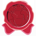 Free Red Seal With Globe Stock Photos - 5282623