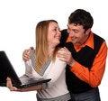 Free Joking Couple Royalty Free Stock Photography - 5285347