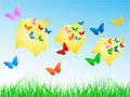 Free Butterflies In Envelope Royalty Free Stock Photography - 5285797