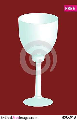 Free 3d Wine Glass Royalty Free Stock Image - 5286916