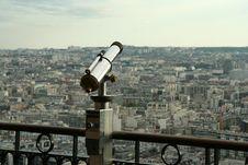 Free Spyglass And Paris Panorama Royalty Free Stock Photography - 5280467