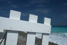Free Beach And White Fence Stock Photos - 5281093