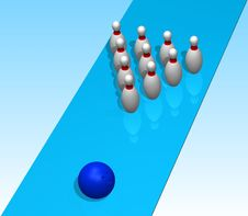 Free 3D. Bowling Stock Images - 5281094