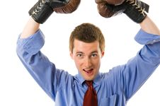 Free The Winner. Businessman Boxer. Stock Photo - 5281610