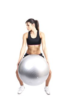Free Beautiful Brunette Woman Exercising Royalty Free Stock Photography - 5282267