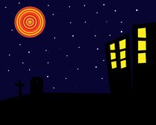 Free Halloween Night Background Stock Photo - 5282490