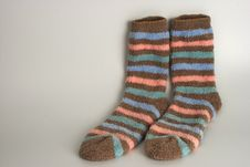 Free Striped Pair Of Socks Royalty Free Stock Image - 5282506