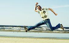 Free Jump. Stock Image - 5282511