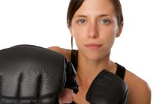 Free Woman In Gym Clothes, With Boxing Gloves, Strength Stock Photography - 5282522