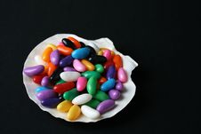 Jelly Beans Shell Stock Photos