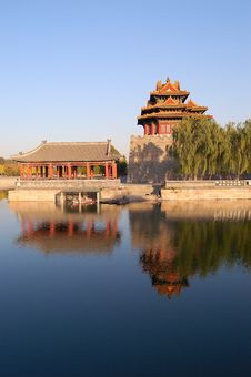 Turret, Forbidden City Stock Photos
