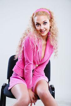 Free Pink Style Blonde Stock Image - 5282621