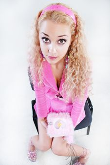 Free Pink Style Blonde Stock Image - 5282661