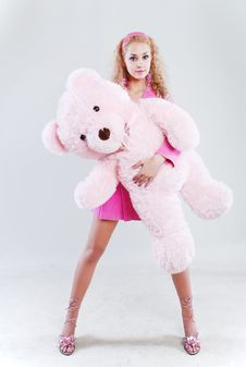 Free Girl With A Teddy-bear Stock Photo - 5282710