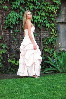 Cute Blond Woman - Vertical Stock Photo