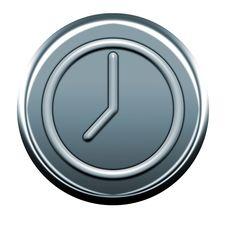 Free Clock Gray  Icon Stock Image - 5283481