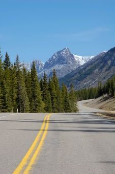 Mountain And Winding Highway Royalty Free Stock Photography