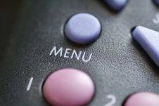 Menu Button Royalty Free Stock Images