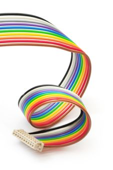 Free Colorful Flat Cable Royalty Free Stock Images - 5284839