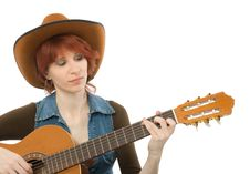 Free Woman With Guitar Royalty Free Stock Images - 5285229