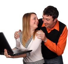Free Joking Couple Royalty Free Stock Photography - 5285347