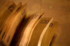 Twenty Pound Notes Royalty Free Stock Images