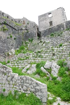 Free Military Defensive Fortress In Kotor Stock Photo - 5285700