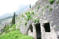 Free Military Defensive Fortress In Kotor Stock Image - 5285771