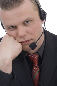 Free Bored Operator Stock Image - 5286071