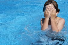 Free Young Boy In Pool Stock Image - 5286281