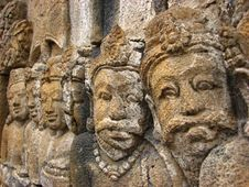 Free Stone Faces At Borobudur, Indonesia Royalty Free Stock Photography - 5286337