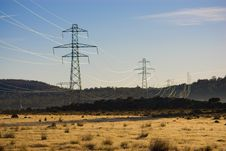 Free Power Pylons Royalty Free Stock Photography - 5286537