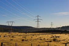 Free Power Pylons Royalty Free Stock Image - 5286576