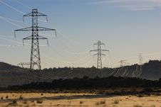 Free Power Pylons Royalty Free Stock Image - 5286586