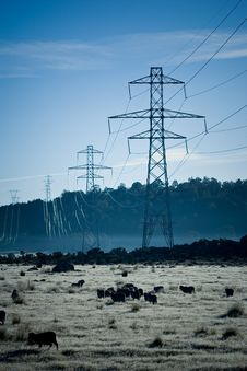 Free Power Pylons Stock Image - 5286611