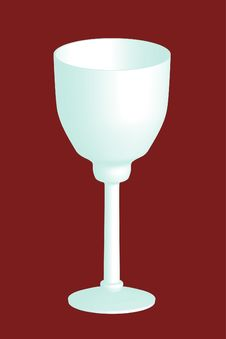 3d Wine Glass Royalty Free Stock Image