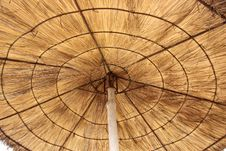 Free Straw Parasol Royalty Free Stock Photos - 5287238