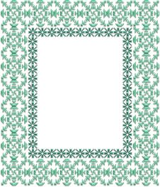 Frame Green Gems Royalty Free Stock Photography