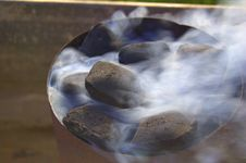 Smoking Coal Royalty Free Stock Photos