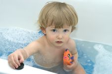 Free Pensive Boy In Bath Stock Photos - 5287483
