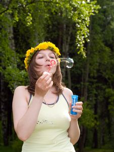 Free Girl With Bubble Stock Photos - 5287733