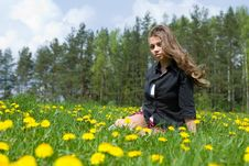 Free Young Girl In Short Skirt Royalty Free Stock Photography - 5288357