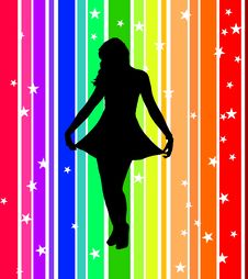 Free Rainbow Dancer Royalty Free Stock Photography - 5288637