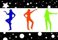 Free Dancing Girls Royalty Free Stock Photography - 5288717