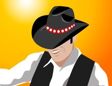 Free Cowboy  Illustration Royalty Free Stock Images - 5288749