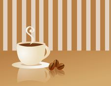 Free Coffee Cup And Smoke Royalty Free Stock Photos - 5288758