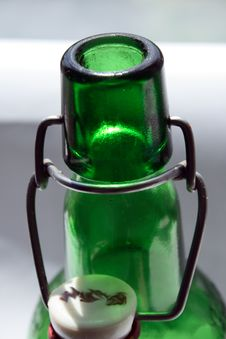 Free Botlle With Porcelan Corck Stock Photos - 5288773
